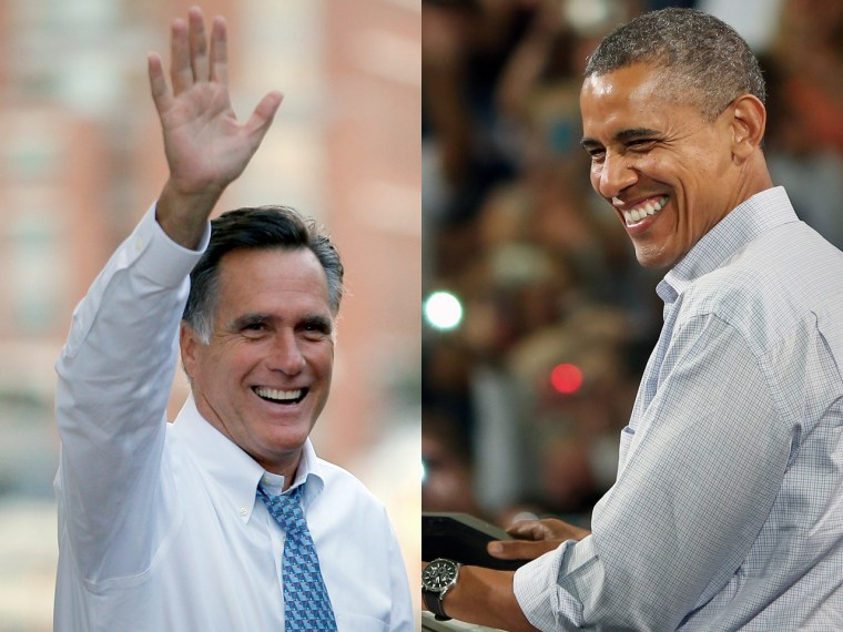 In the final push in the 2012 presidential election, candidates Mitt Romney and Barack Obama make their last appeals to voters.