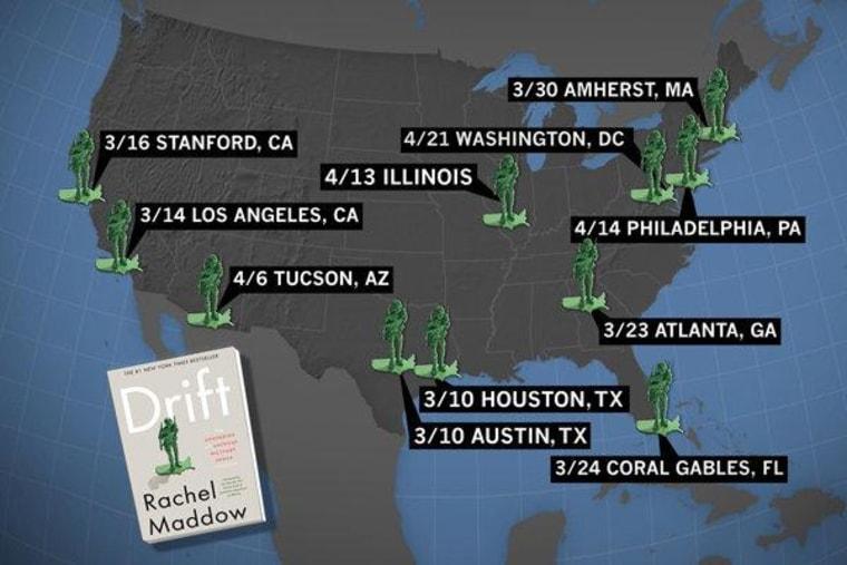 The Drift spring 2013 book tour map