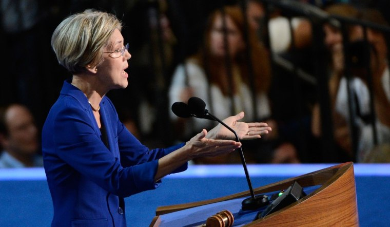 Massachusetts Senate candidate Elizabeth Warren speaks during day two of the Democratic National Convention at Time Warner Cable Arena on September 5, 2012 in Charlotte, North Carolina.