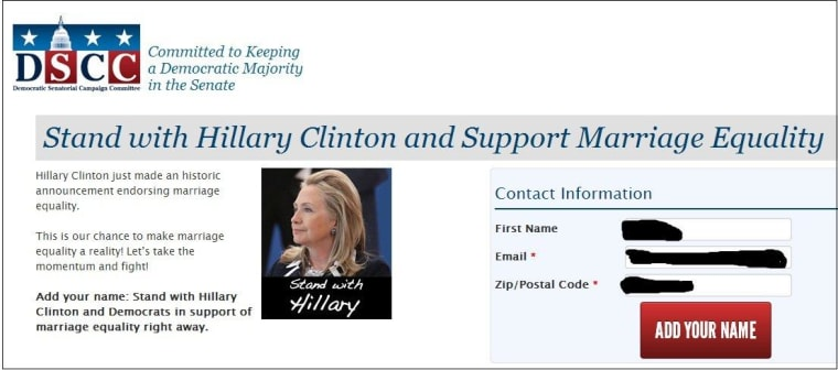Mailer: Democrats see political gain in Clinton's support for marriage