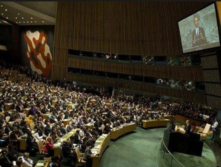 President Obama addresses the U.N. General Assembly