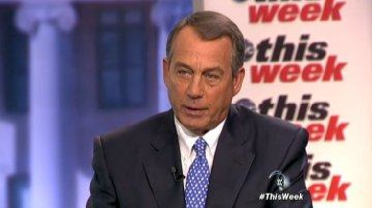 Boehner agrees: there is no debt crisis