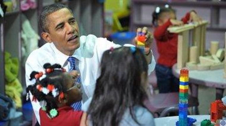 President Obama at a Head Start center