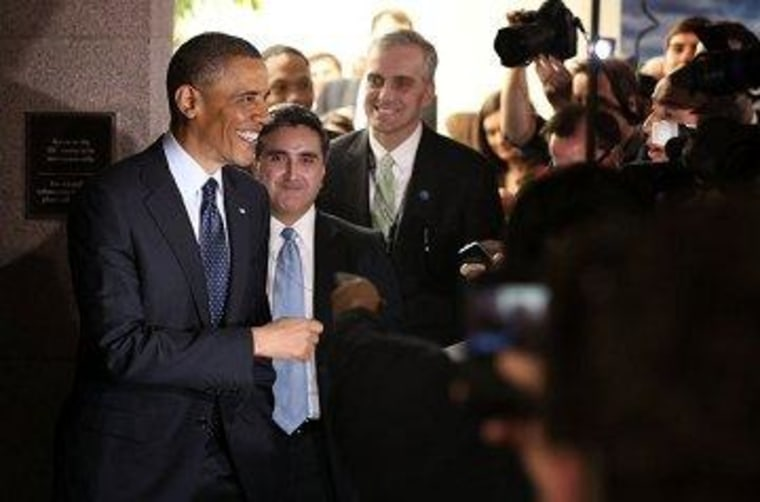 President Obama was all smiles after his meeting with House Republicans yesterday.