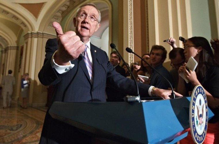 Harry Reid says Romney 'didn't pay taxes for 10 years!'