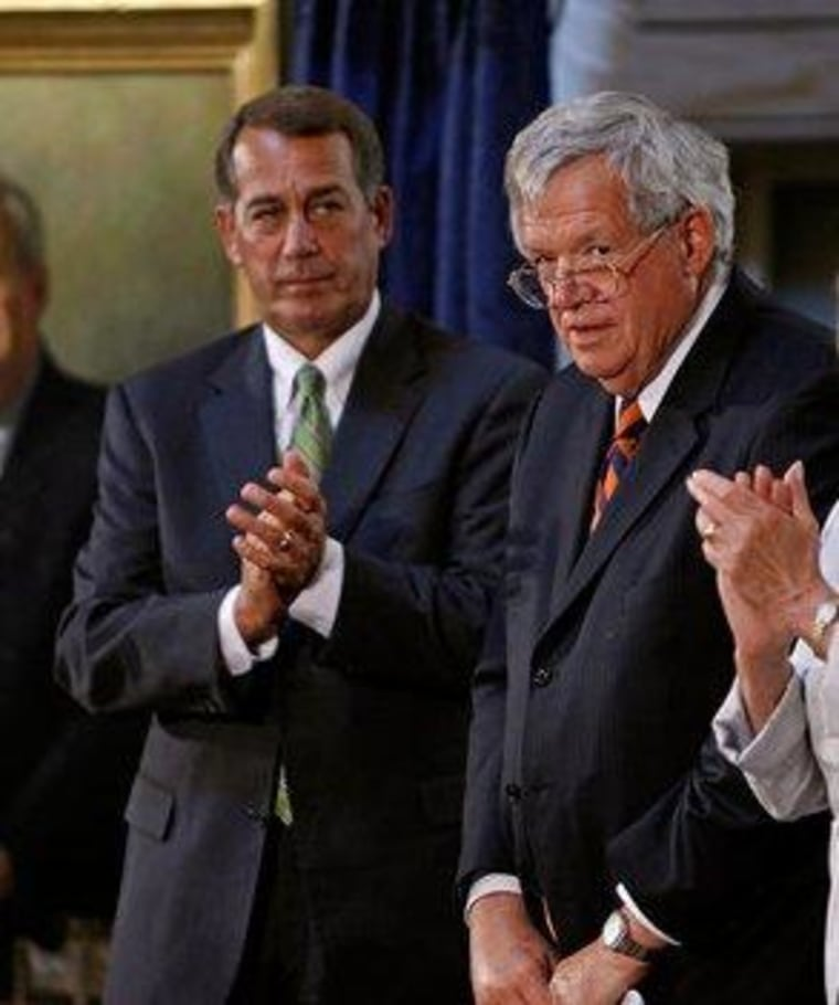 GOP's far-right flank demands 'Hastert Rule' fealty