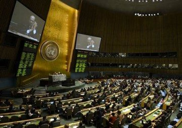 Delegates at the United Nations applauded the passage of the Arms Trade Treaty yesterday.