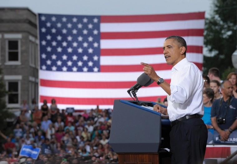 President Obama speaks in Roanoke, VA (7/13/12)