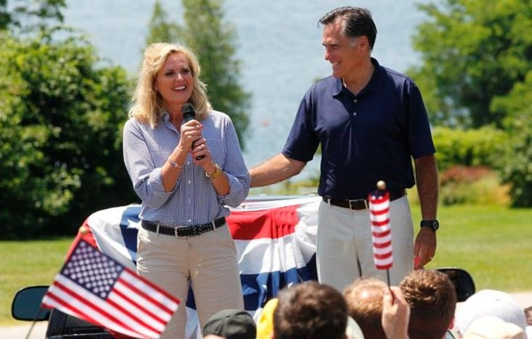 Ann Romney would 'love' having a female running mate, but Mitt likely to disappoint wife