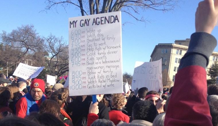 The gay agenda (hourly version)