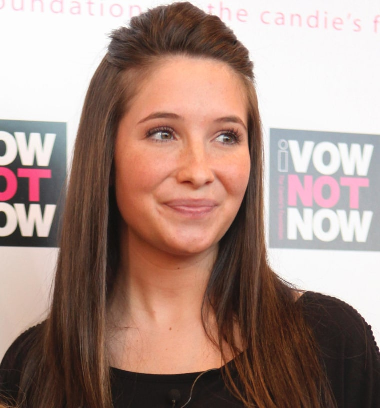 In this May 6, 2009 file photo, Bristol Palin, daughter of former Alaska Gov. Sarah Palin, arrives at an event to promote National Teen Pregnancy Awareness Day in New York.
