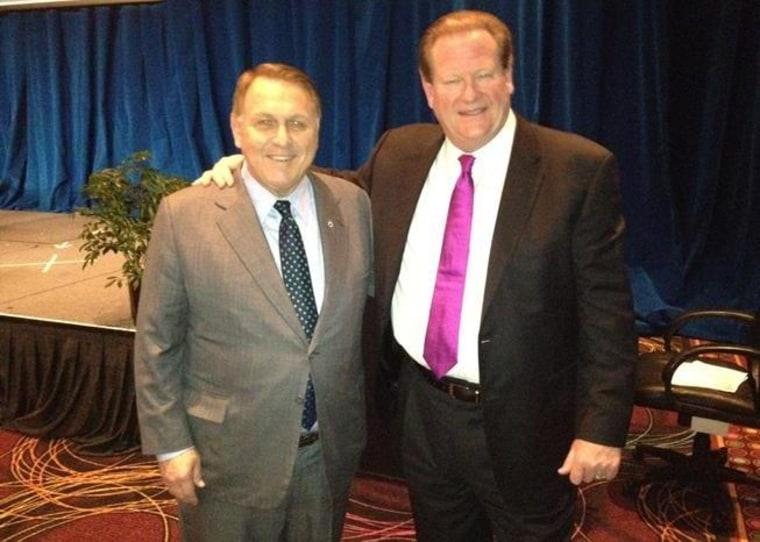 Teamsters General President James Hoffa and msnbc host Ed Schultz in Las Vegas (May 7, 2012),