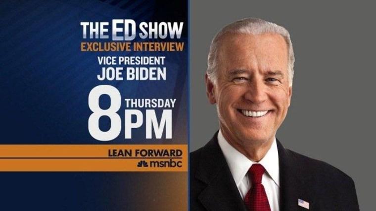EXCLUSIVE: Ed to interview Vice President Joe Biden on Thursday