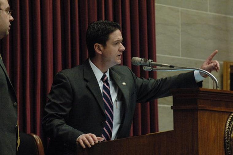 Missouri House Speaker Tim Jones (R) presiding over House debate.