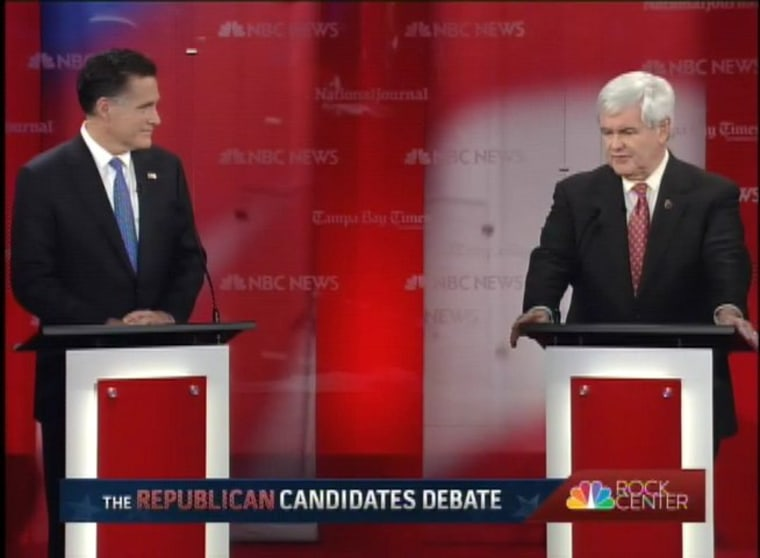 Romney and Gingrich clash in Florida debate