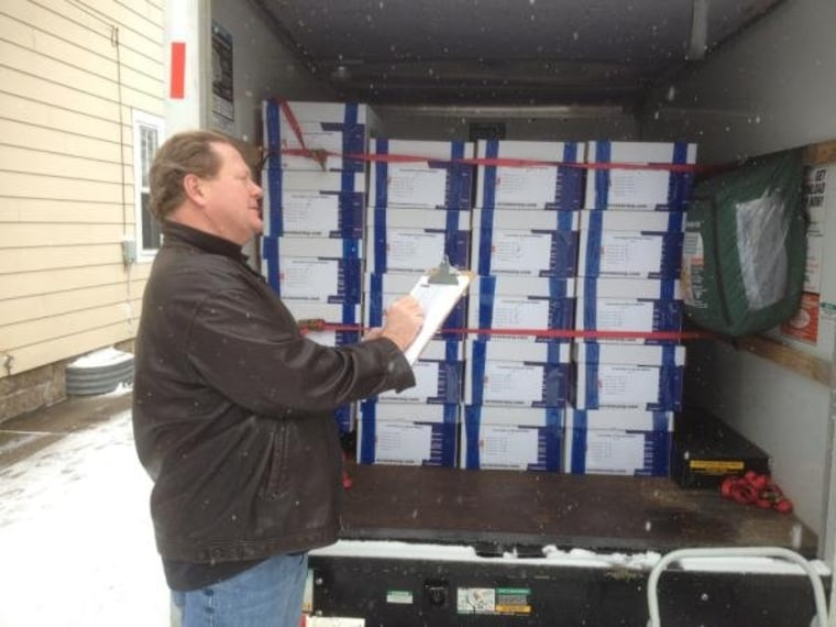 Ed gets first look at Walker recall petition truck