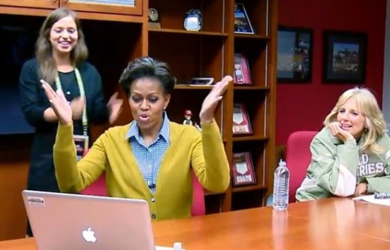 First lady @MichelleObama went live on Twitter on Thursday.
