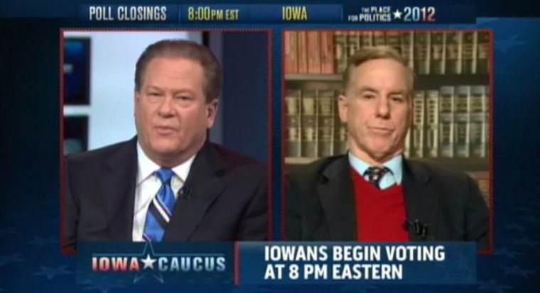 """Ed interviews former Vermont Governor Howard Dean during msnbc's rolling live coverage of the Iowa caucuses on Jan. 3, 2012.  Dean doubled down on the prediction he made on \""""The Ed Show\"""" last night, that RickSantorum will win in Iowa tonight."""