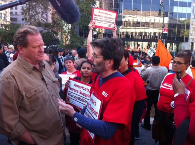 Ed with Nurses at Occupy Wall Street March