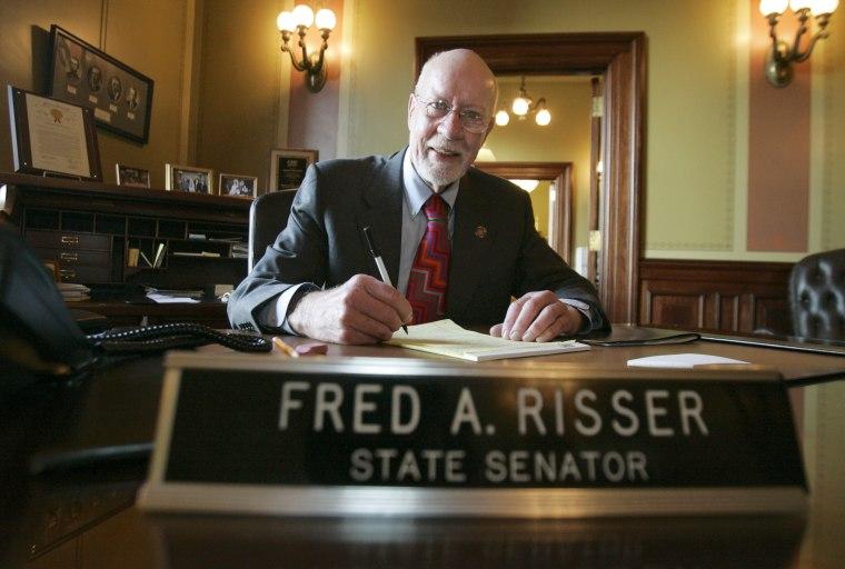 Sen. Fred Risser verbally assaulted