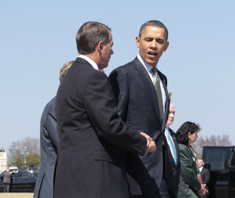 Boehner pressures Obama on Libya