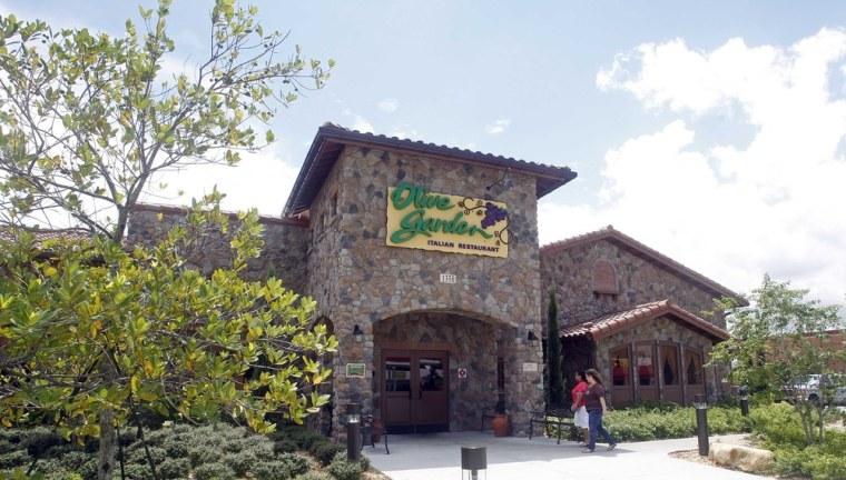An Olive Garden restaurant is shown in Hialeah, Fla., Thursday, Sept. 6, 2012.
