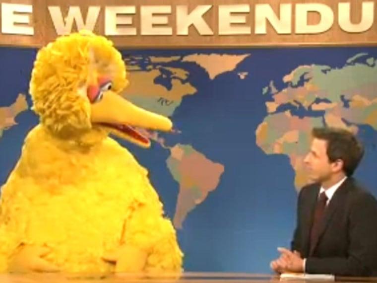 Big Bird's big 'SNL' debut