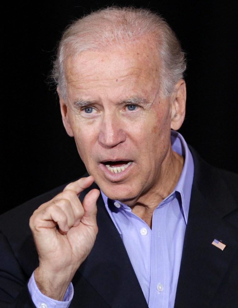 Vice President Joe Biden speaks in Council Bluffs, Iowa, Thursday, Oct. 4, 2012. (