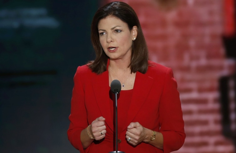 U.S. Senator Kelly Ayotte (R-NH) addresses the second session of the Republican National Convention in Tampa, Florida August 28, 2012.