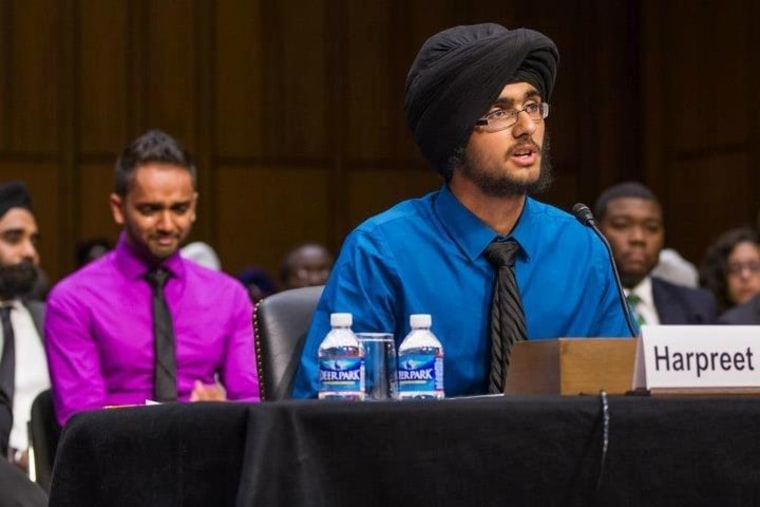 18-year-old Harpreet Singh Saini, whose mother was murdered in a shooting at an Oak Creek, WI Sikh temple in August, testifies before a U.S. Senate Judiciary Committee on Wednesday.