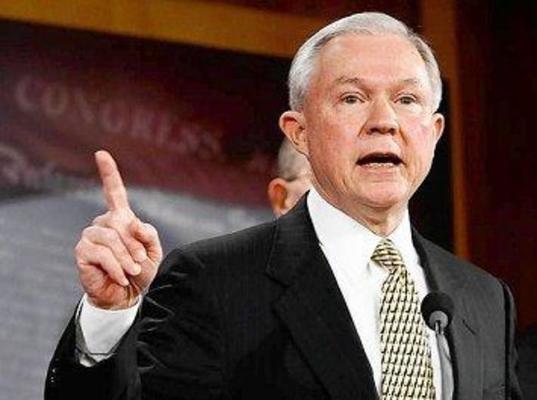 Sen. Jeff Sessions (R) of Alabama led the charge against the Veterans Job Corps Act.