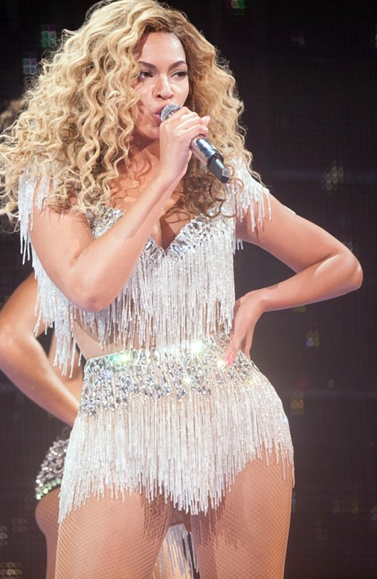 In this Friday May 25, 2012, photo provided by Parkwood Entertainment, Beyonce performs at Revel in Atlantic City, N.J., for the resort's premiere.