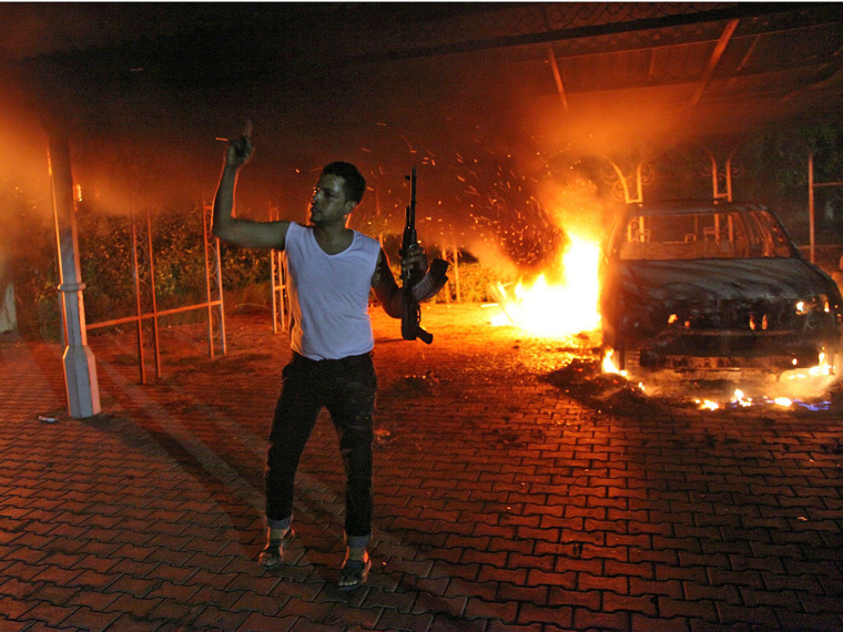 The U.S. ambassador to Libya and three other Americans were killed after protesters angry over a film that ridiculed Islam's Prophet Muhammad stormed the U.S. consulate in the eastern Libyan city of Benghazi.
