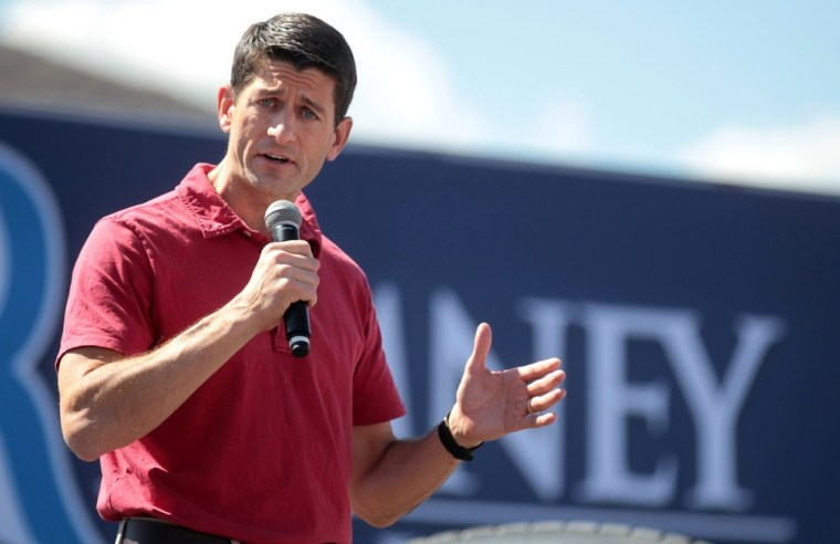 Republican vice presidential candidate Rep. Paul Ryan, R-Wis. campaigns at the Peterbilt Truck & Parts Equipment company in Sparks, Nev., Friday, Sept. 7, 2012.