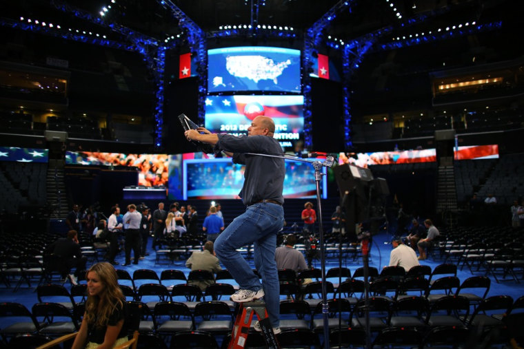 Final preparations being made in advance of the Democratic National Convention