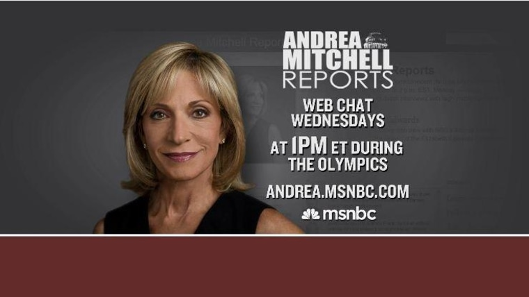 Live Andrea Mitchell online chat Wed., August 1