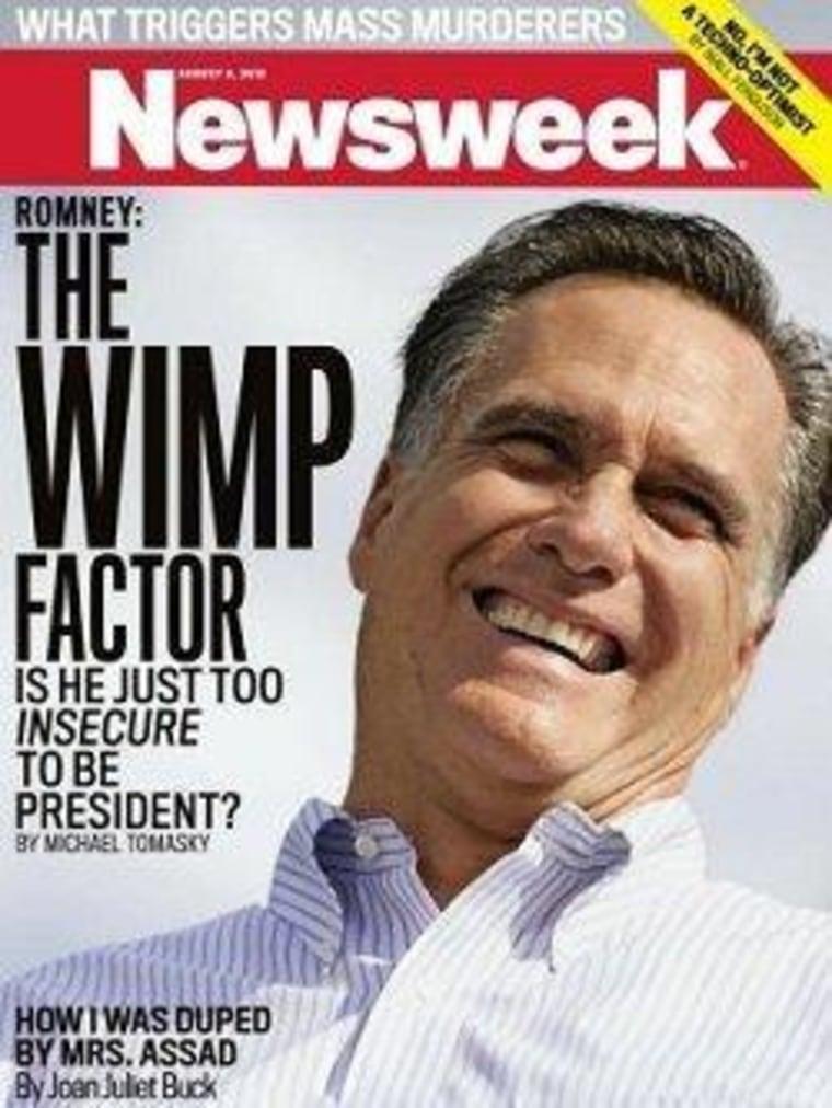 Mitt Romney dismisses Newsweek cover calling him a 'wimp'