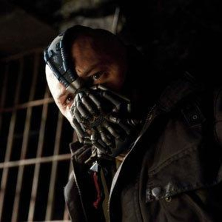 "Tom Hardy as ""Bane"" in ""The Dark Knight Rises"""