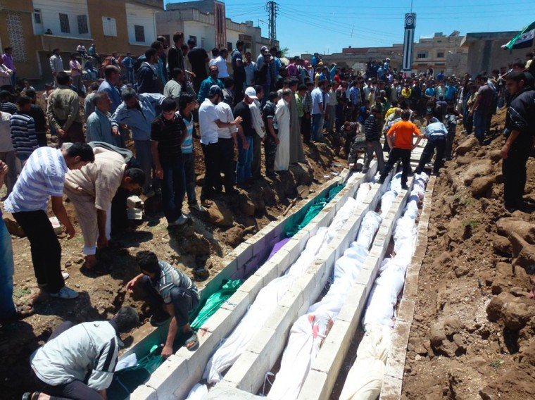 Massacre in Syria claims 108 lives