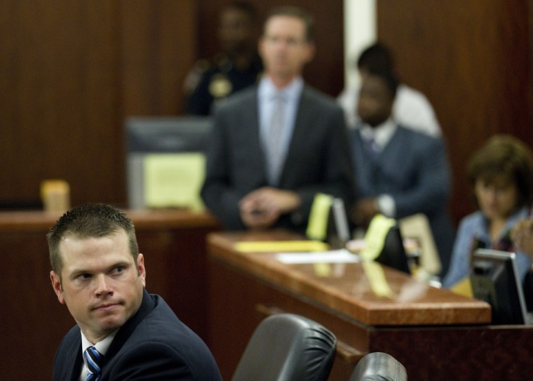 Former Houston police officer Andrew Blomberg during his trial