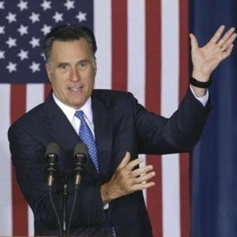 Romney's magic act in Iowa yesterday.
