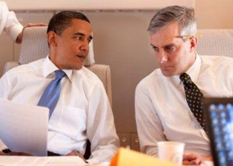 President Obama and Denis McDonough, his new White House chief of staff
