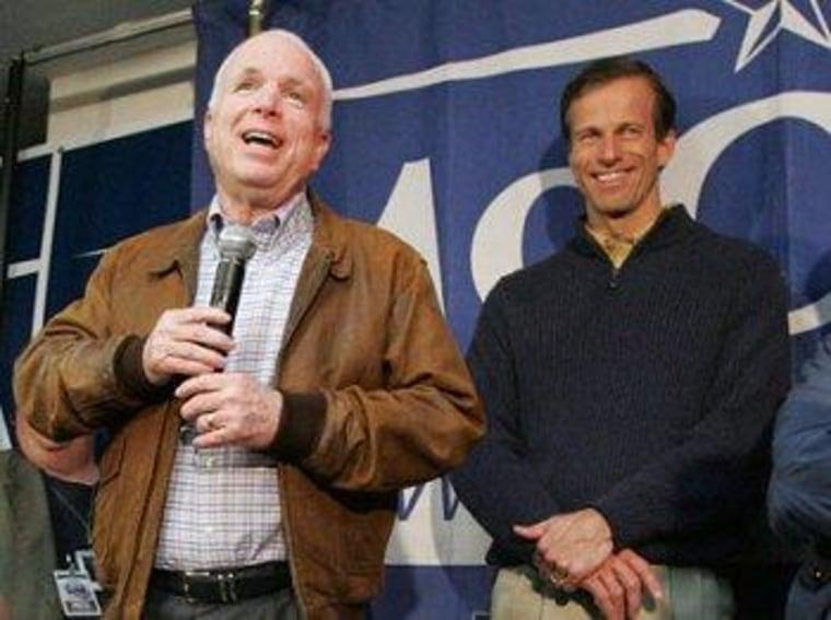 Republican Sens. John McCain and John Thune