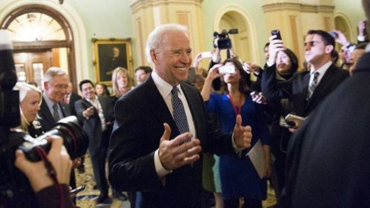 Vice President Biden on Capitol Hill last night.