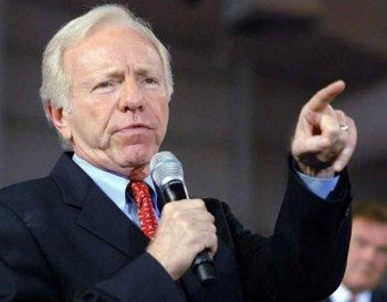 Lieberman is always pointing fingers in the wrong direction.