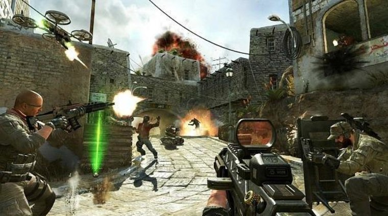"""A publicity image promoting \""""Call of Duty: Black Ops II.\"""""""