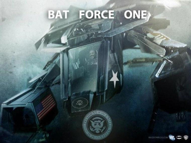 Please, please let the president have a Batplane