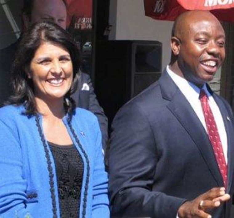 South Carolina's Nikki Haley and Tim Scott