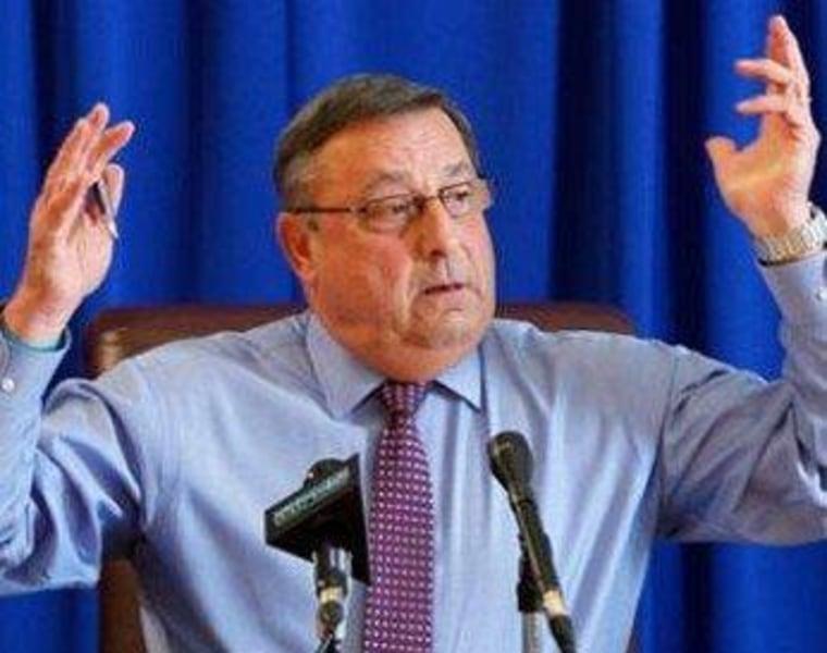 LePage won't meet with new Democratic majority