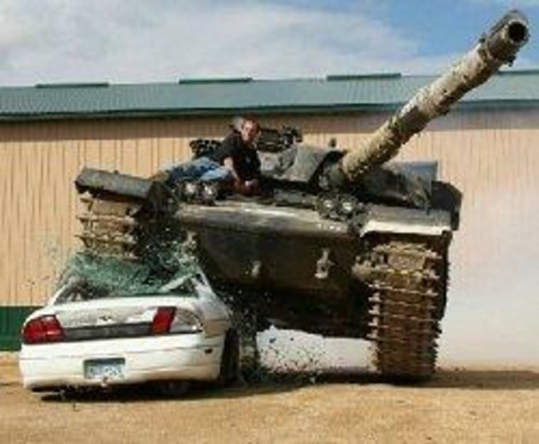 ""\""""We enjoyed all of the time that we spent driving the tanks, firing the machine guns...""""""760|626|?|en|2|f2364bdf5374fd876f7ced564f26fb9c|False|UNLIKELY|0.2952454686164856